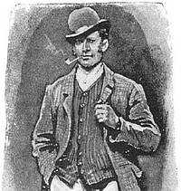 Paget illustration: waistcoat on disguised Sherlock Holmes