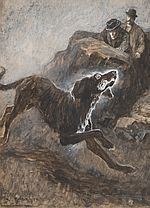 Original Sidney Paget Drawing: Hound of the Baskervilles Ch13 #1