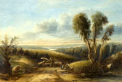 Painting of Surrey landscape by Sidney Paget