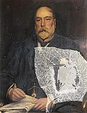 Portrait of Sir William Henry Wills by Sidney Paget