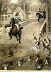 Sidney Paget drawing for The Sphere TBD Tally Ho Hippodrome