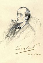 Original Sidney Paget Drawing: Portrait of Holmes (C)