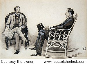 Original Sidney Paget Drawing The Stockbrokers Clerk 1